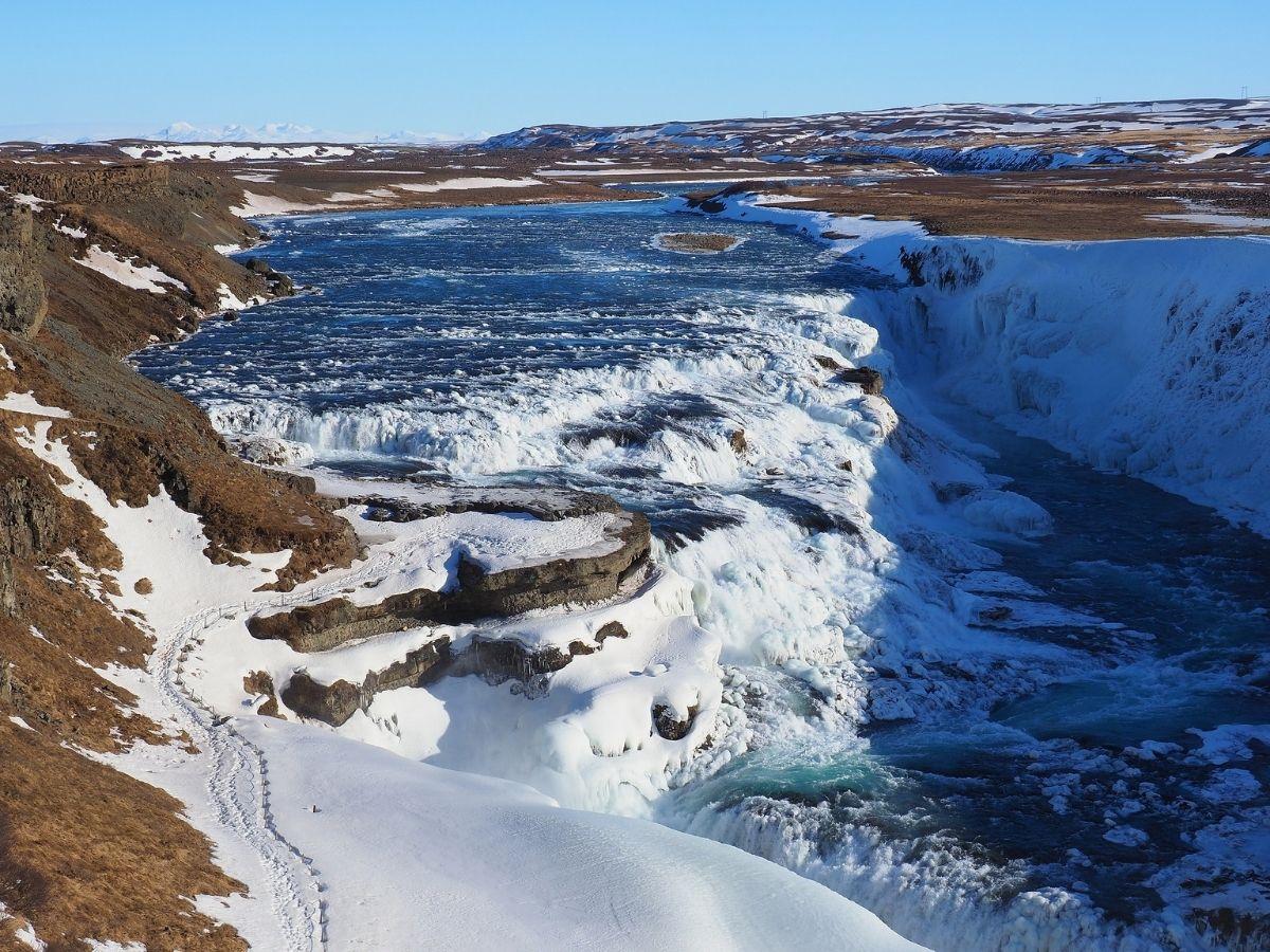 Lugares-de-gravacao-de-Game-of-Thrones-Gullfoss-islandia Visite os 30 lugares de gravação de Game of Thrones! (tour GOT)