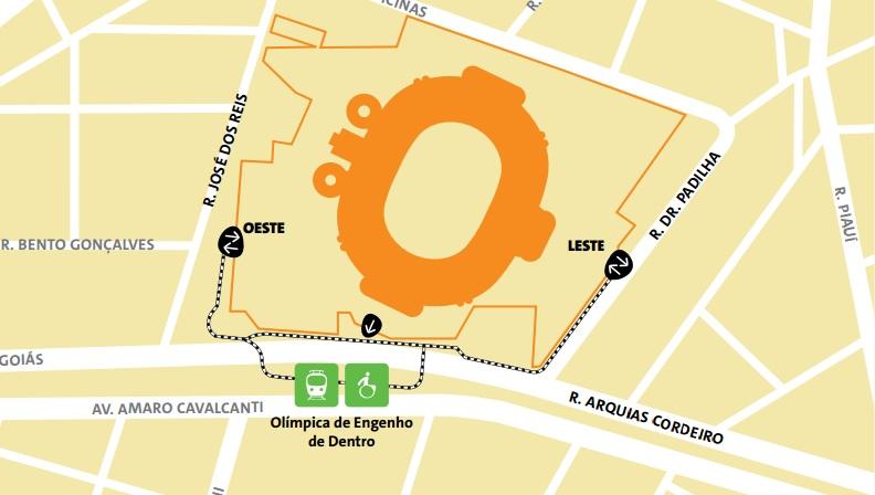 como-chegar-ao-engenhão-mapa Como chegar ao Maracanã | Guia Olímpico Rio 2016