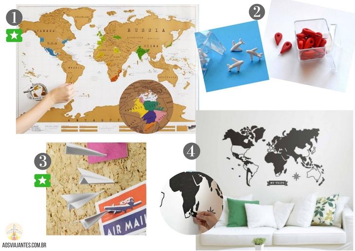 Dicas-de-presentes-para-viajantes-mapas-1 50 Dicas de presentes para viajantes !