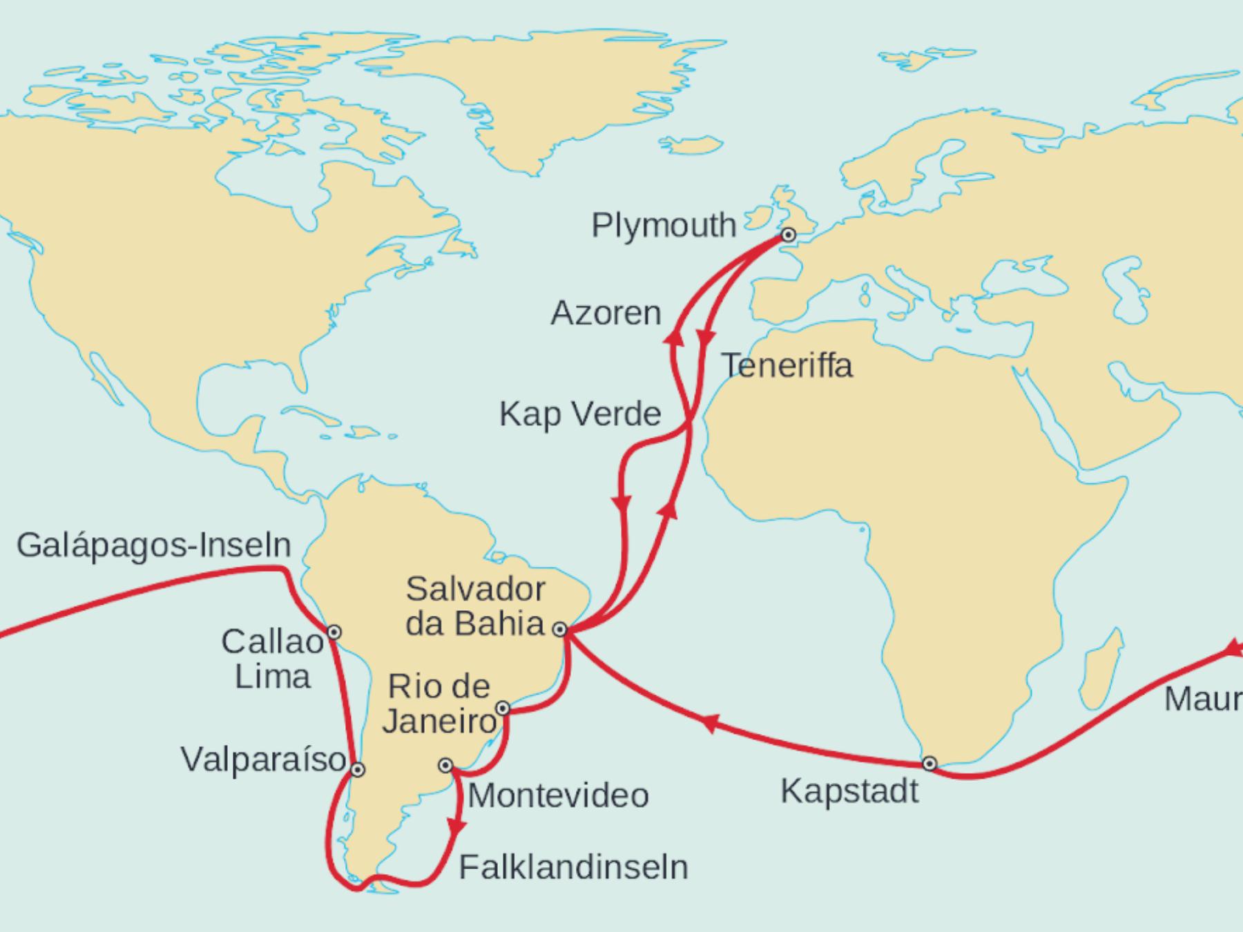 O-que-Darwin-nos-ensinou-sobre-viajar-mapa O que Darwin nos ensinou sobre viajar